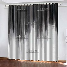 WAFJJ Curtain for Girls Gray & abstract Bedroom