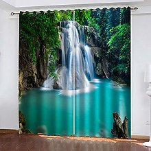 WAFJJ Curtain for Girls Green & Lake Bedroom