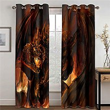 WAFJJ Curtain for Girls Horror & Dragon Bedroom