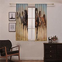WAFJJ Curtain for Girls horse Bedroom Curtains