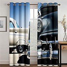 WAFJJ Curtain for Girls Retro & Car Bedroom