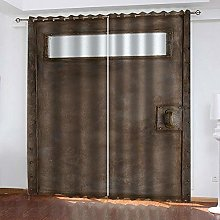 WAFJJ Curtain for Girls Retro & Iron Door Bedroom