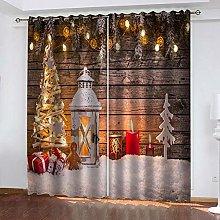 WAFJJ Curtain for Girls Retro&Wooden Board Bedroom