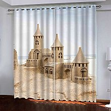 WAFJJ Curtain for Girls Sand & Castle Bedroom