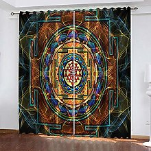 WAFJJ Eyelet Blackout Curtains Abstract & Doodle