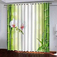 WAFJJ Eyelet Blackout Curtains bamboo Curtain for