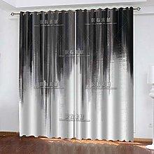 WAFJJ Eyelet Blackout Curtains Gray & abstract