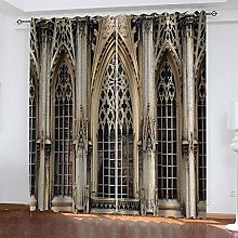 WAFJJ Eyelet Blackout Curtains Retro&Palace