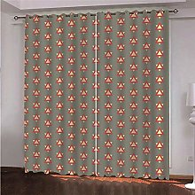 WAFJJ Eyelet Blackout Curtains Retro & triangle