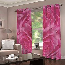 WAFJJ Super Soft Thermal Insulated Window Pink &