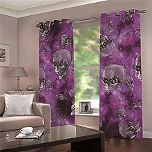 WAFJJ Super Soft Thermal Insulated Window Purple &