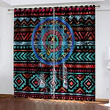 WAFJJ Thermal Insulated Blackout Curtains Abstract