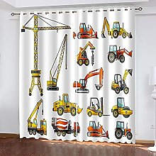 WAFJJ Thermal Insulated Blackout Curtains Cartoon