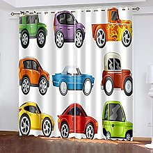 WAFJJ Thermal Insulated Blackout Curtains Cartoons