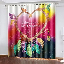 WAFJJ Thermal Insulated Blackout Curtains Color &