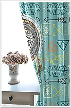 WAFJJ Thermal Insulated Blackout Curtains Green &