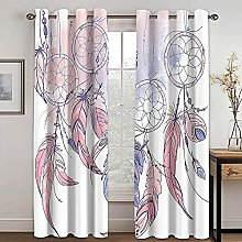 WAFJJ Thermal Insulated Blackout Curtains Pink &