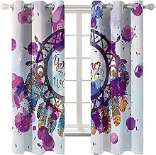 WAFJJ Thermal Insulated Blackout Curtains Purple &