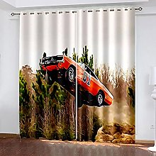 WAFJJ Thermal Insulated Blackout Curtains Red &