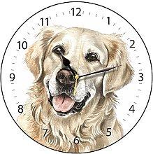WaggyDogz Golden Retriever Dog Gift Wall Clock