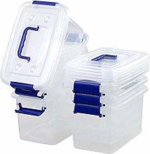 Waikhomes 5 L Plastic Storage Boxes with Lids,