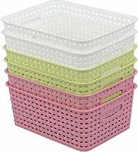 Waikhomes Plastic Kitchen Storage Baskets, Weave
