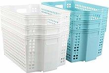Waikhomes Plastic Stackable Storage Basket,