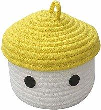 WAJklj Laundry Basket with Lid, Cotton Rope Basket