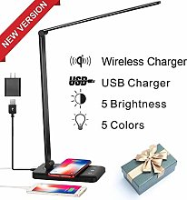 WAJklj LED Desk Lamp, Table Lamp with Wireless