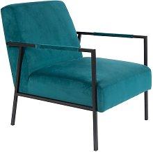 Wakasan blue velvet armchair