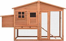 Wakects Chicken Coop with Nest Box, Large Fir Wood