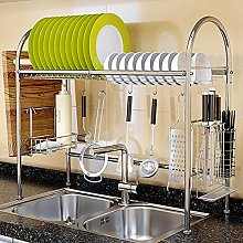 Wakects Kitchen Storage Rack, Stainless Steel Sink