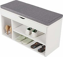 Wakects Shoe Rack, Seat with Storage Space