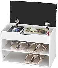 Wakects Shoes Bench,2 Tier Shoe Cabinet Wooden