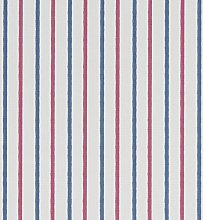 Walcott Marine Blue and Red Curtain and Upholstery