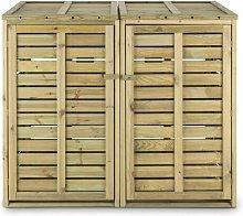 Waldbeck Wooden Double Bin Store Waldbeck