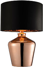 Waldorf lamp, copper, with lampshade