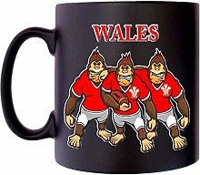 Wales Rugby Gorrilla Welch Prince Feathers Klassek