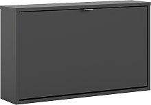 Wall 1 Door Shoe Cabinet - Black