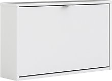 Wall 1 Door Shoe Cabinet - White