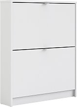 Wall 2 Door Shoe Cabinet - White