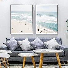 Wall Art Aerial Beach Poster Ocean Print Seascape