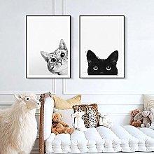 Wall Art Baby Nursery Cat Poster Prints Nordic