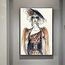 wall art Canvas ArtworkFashion Print Women Poster