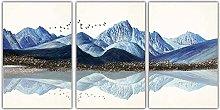 wall art Canvas Wall Art Blue Mountain Pebbles