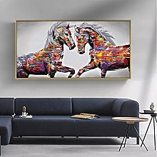 Wall art decoration painting Abstract Animal Lion