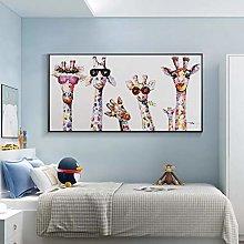 Wall art decoration painting Abstract Cute Cartoon