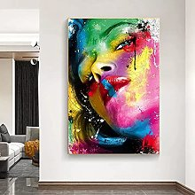 Wall art decoration painting Abstract Lips Canvas