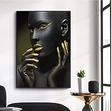Wall art decoration painting Black Gold African
