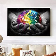 Wall art decoration painting Hand Holding The